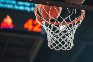 Basketball hoop, basketball scoring in the stadium